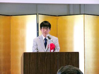 技能五輪国際大会壮行式が行われました(電子情報科)