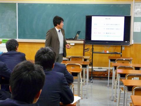 酒田光陵高等学校で「進路ガイダンス」を行いました。