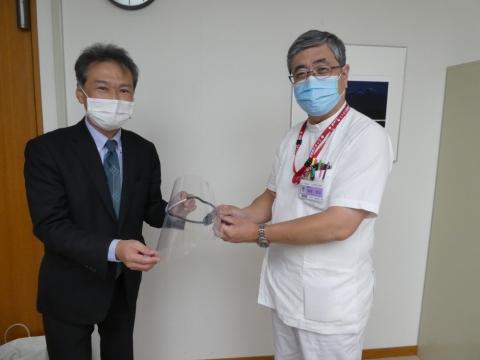 フェイスシールドを日本海総合病院へ提供